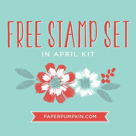Free Extra Stamp Set in April Paper Pumpkin!!