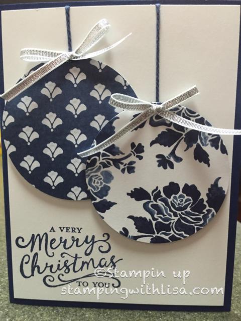 Floral Boutique Ornament Card