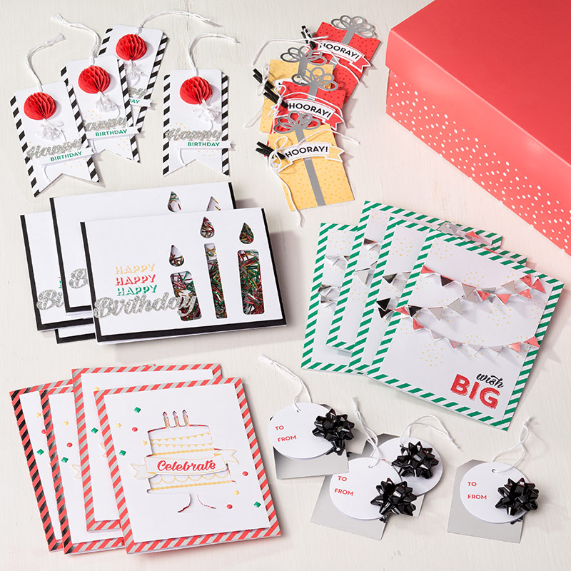 Birthday Bright Project Kit with Shaker Cards!