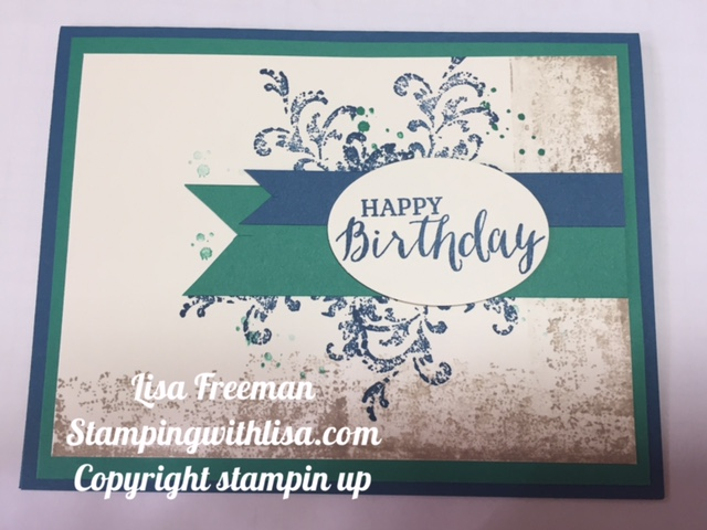 Quick and easy birthday card stamping with lisa have birthday cards on hand so that when one comes up they are already made and all i have to do is write a quick note and stick it in an envelope bookmarktalkfo Choice Image