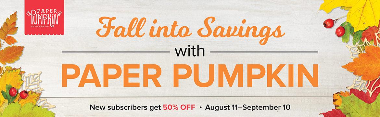 Paper Pumpkin Sale!