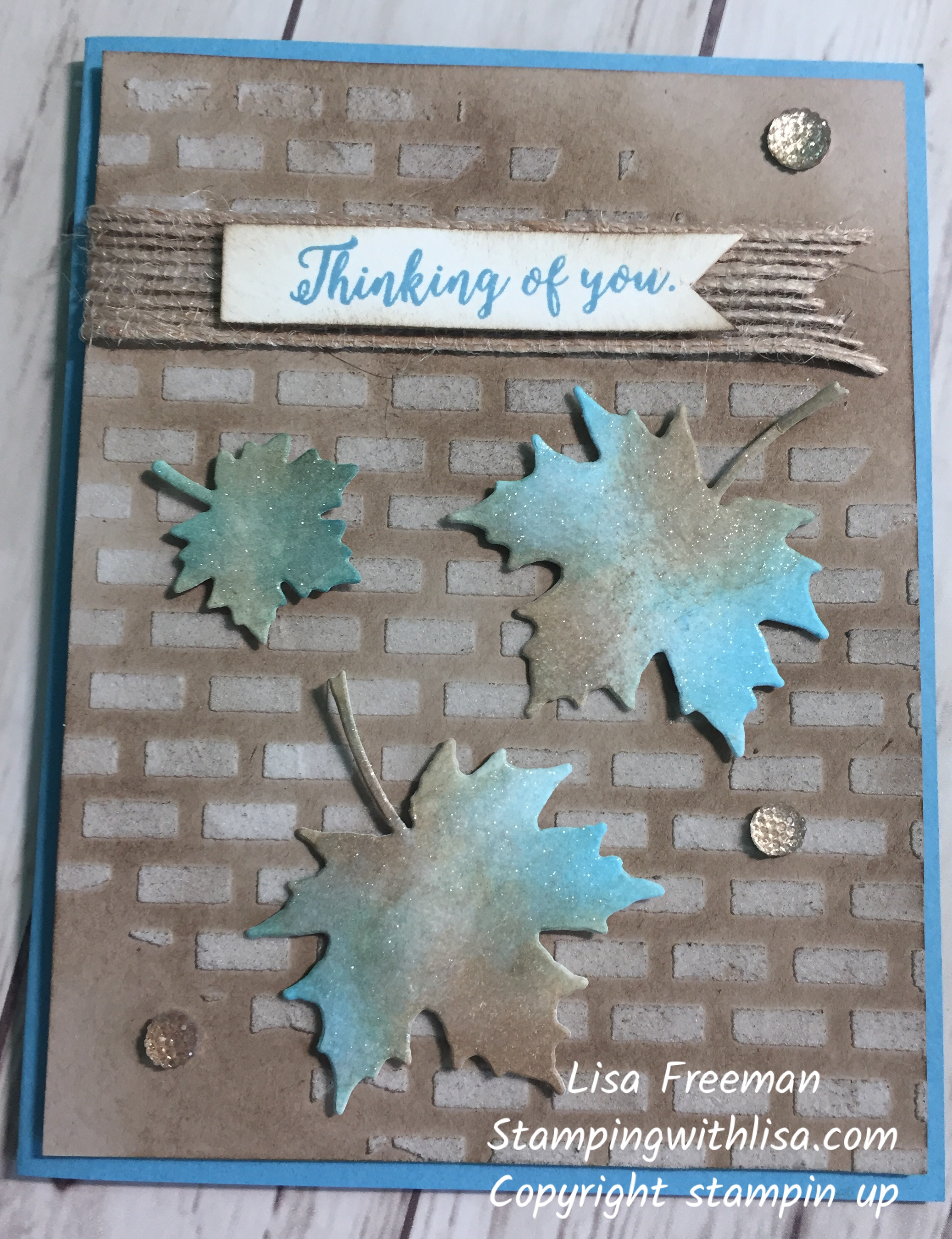 Colorful Seasons Embossed Background Technique