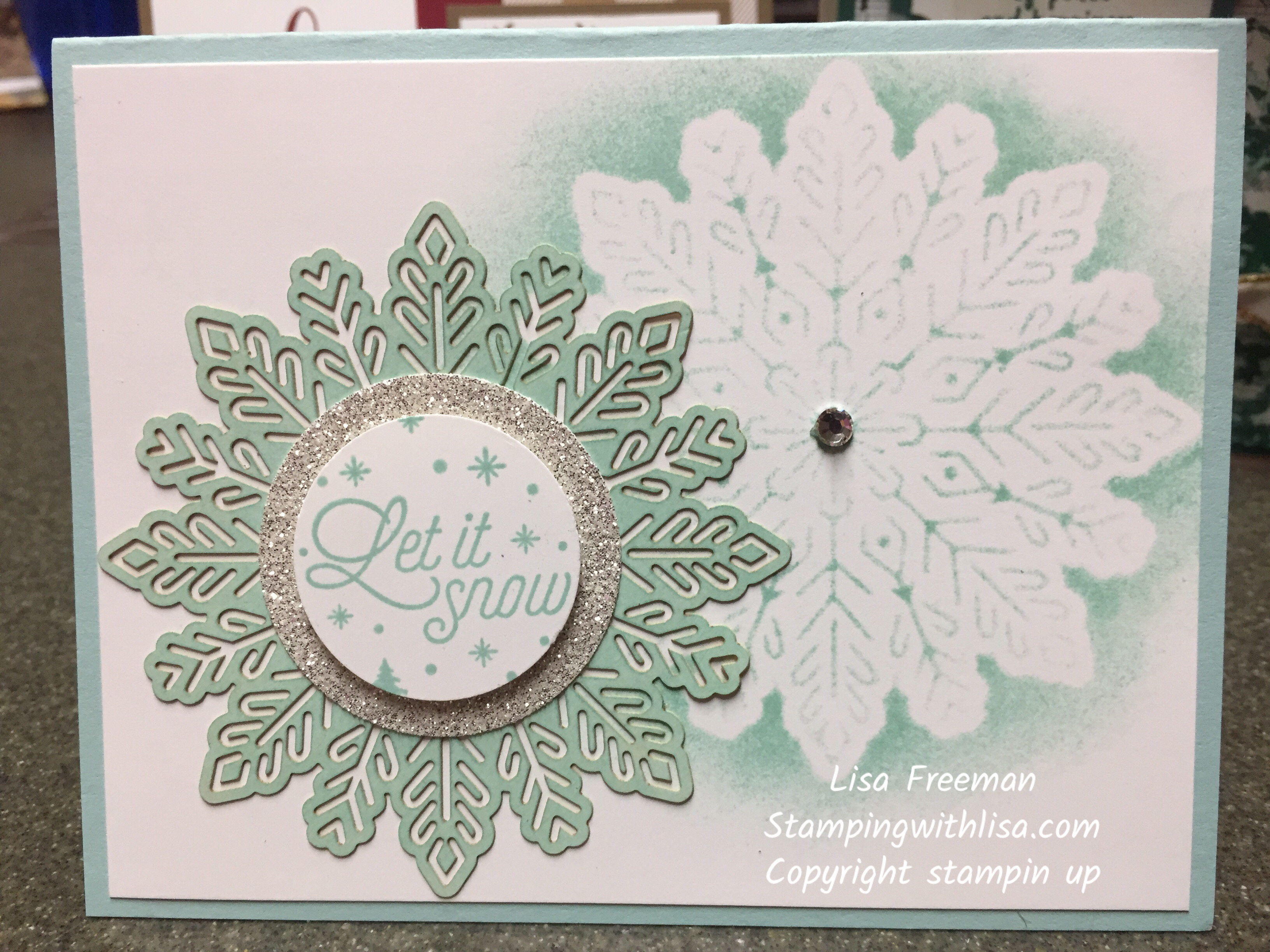 Love the Foil Snowflakes!