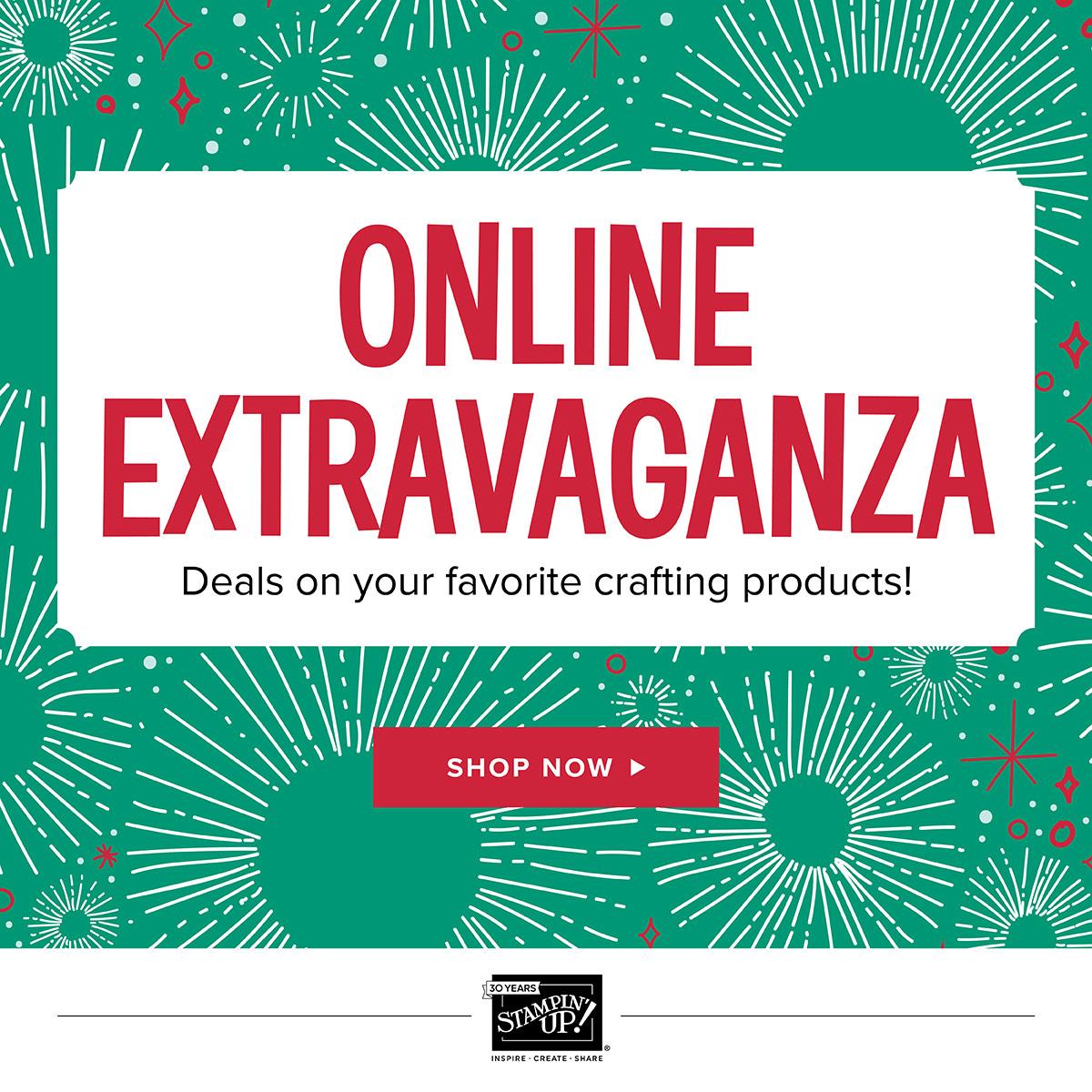 It's Stampin Up's Online Extravaganza!!