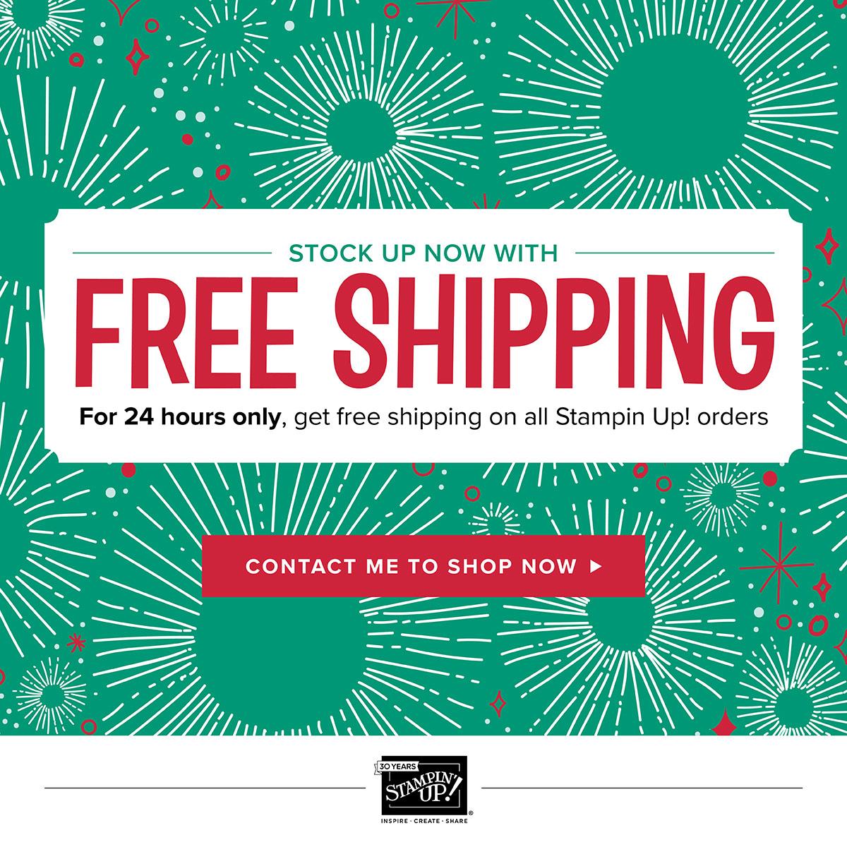 free shipping when you shop now