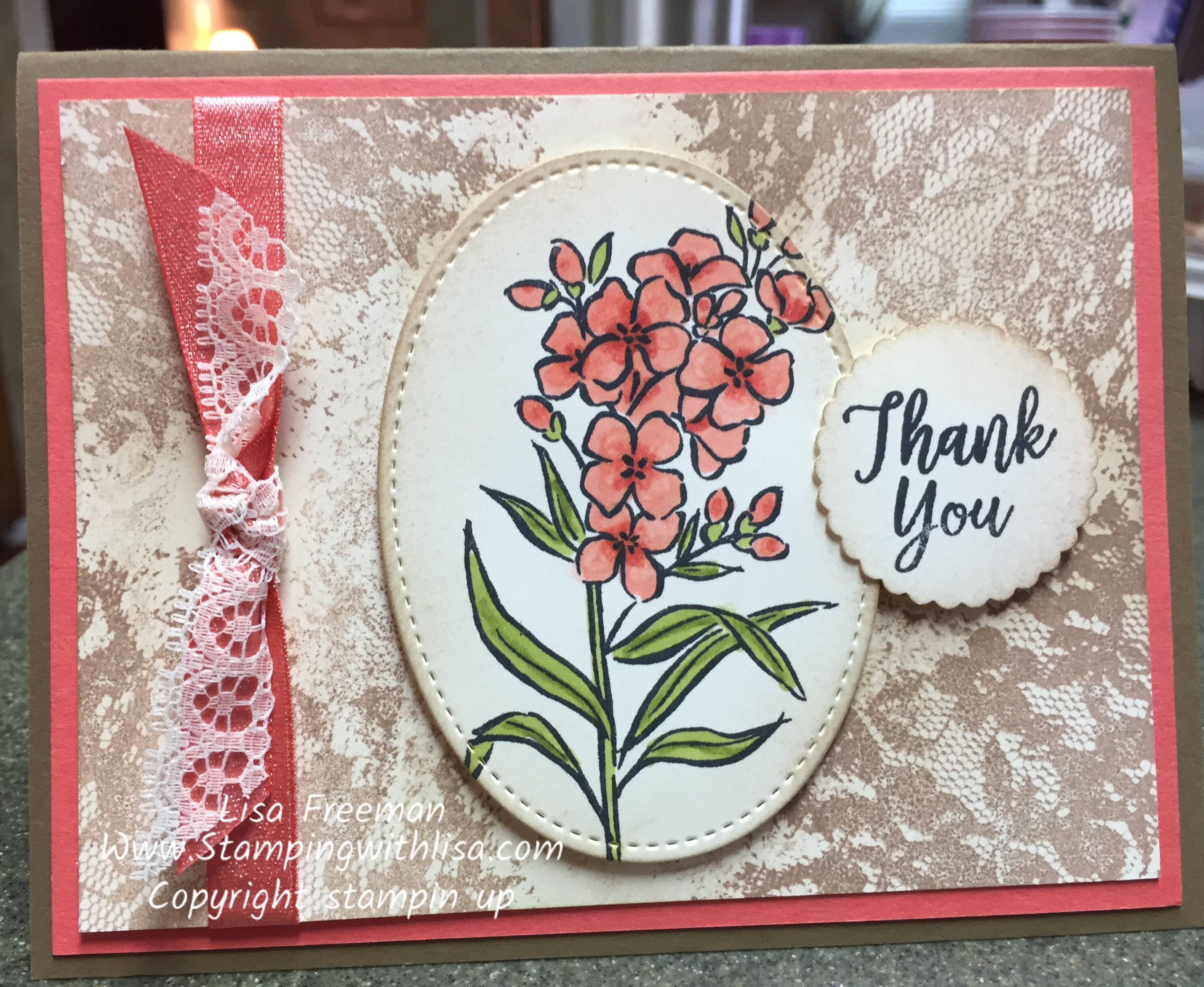 Loving the Stampin Up Southern Serenade Shabby Chic Look!