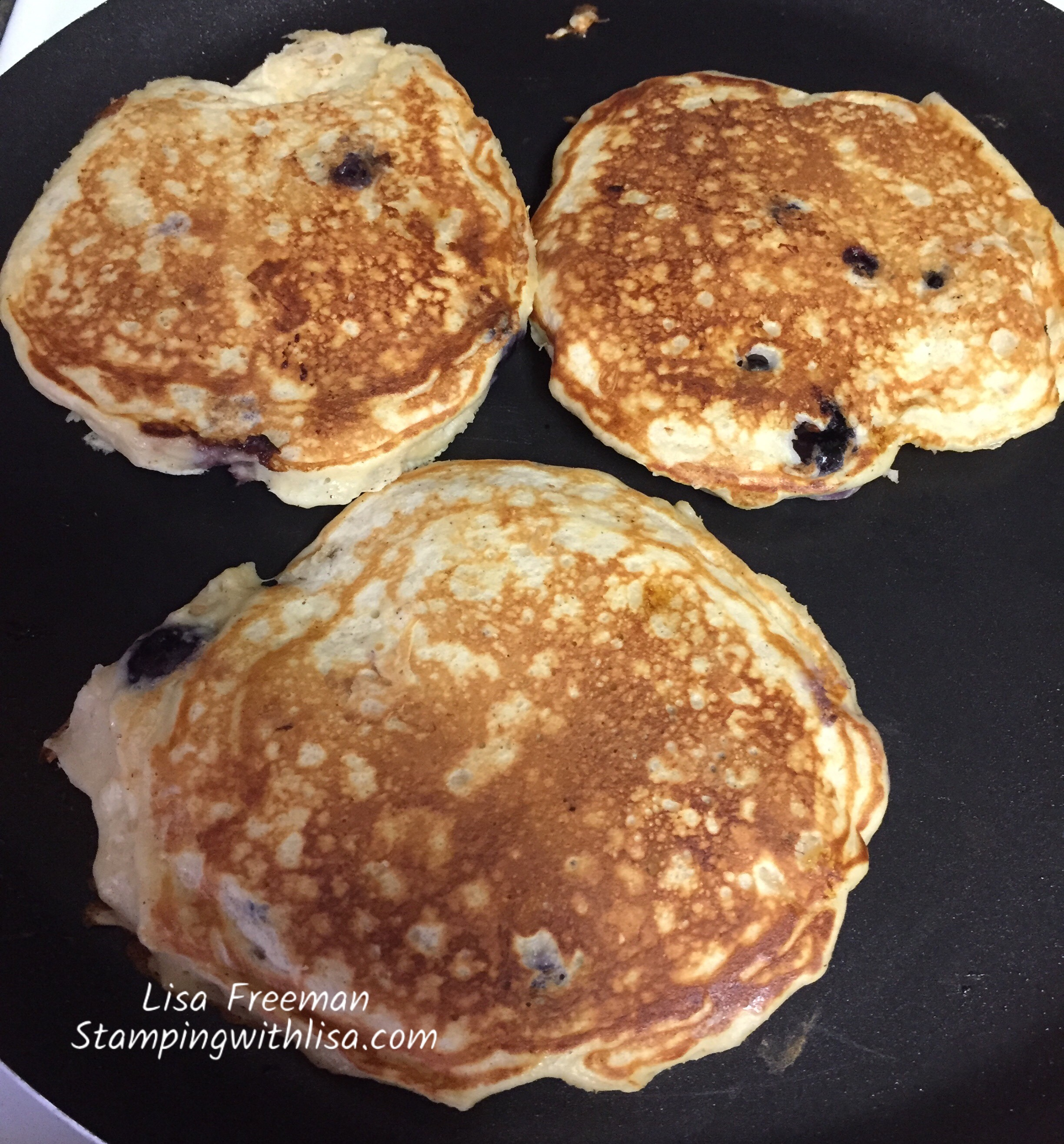 Yummy 1 Point Banana Blueberry Pancakes