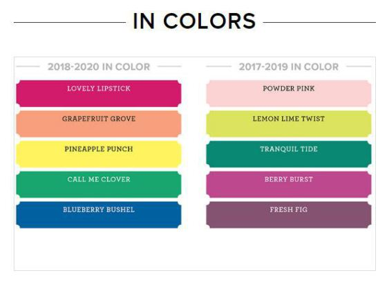 2018 Stampin Up color revamp