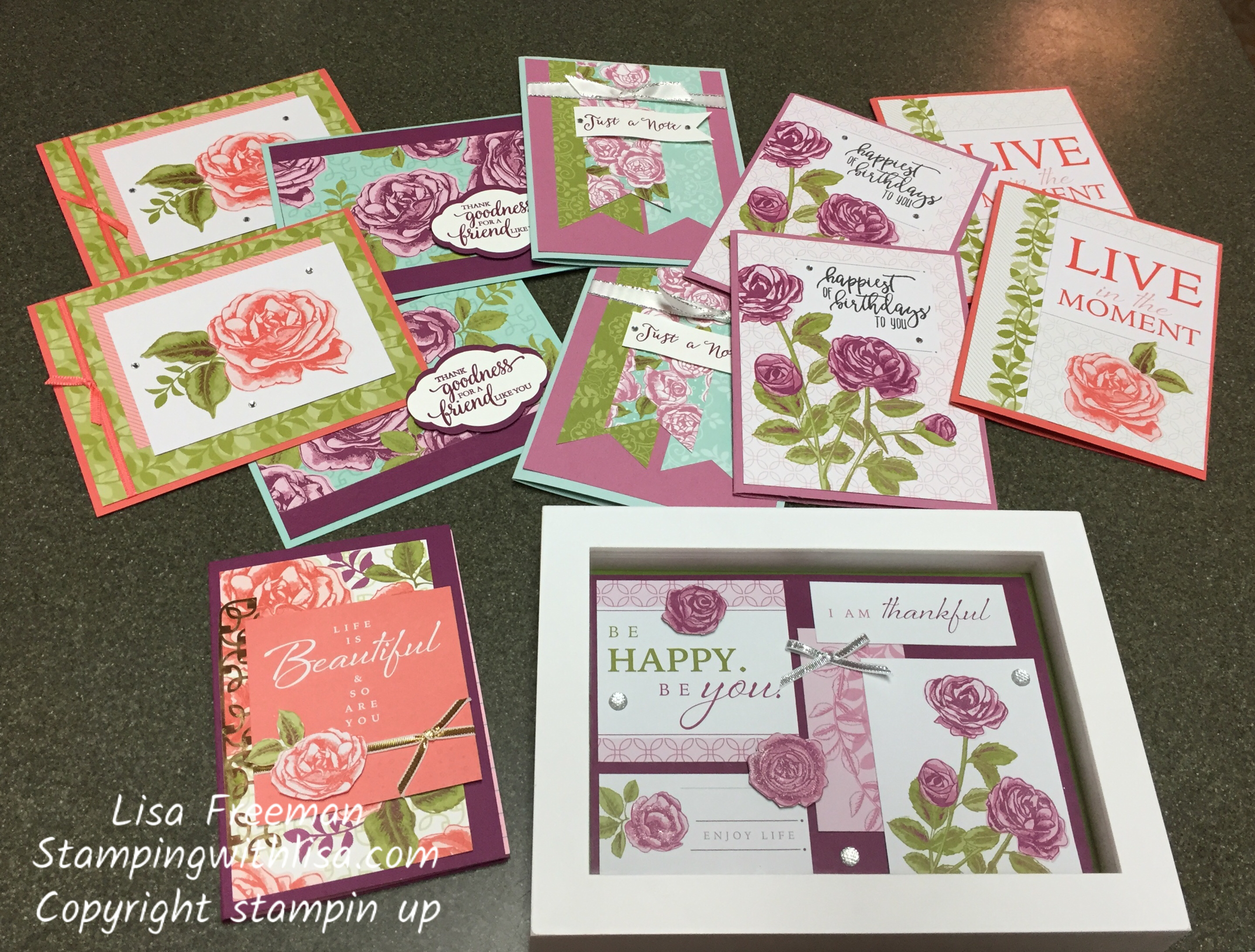 stampin up petal garden kit and dsp