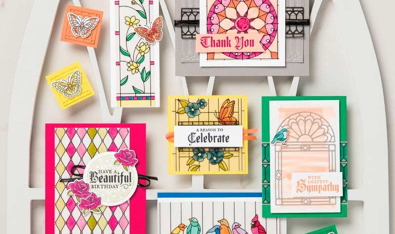 Graceful glass suite from Stampin UP