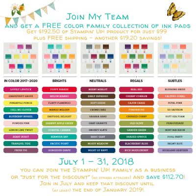 July Means Lots of Free Stampin Up products!!