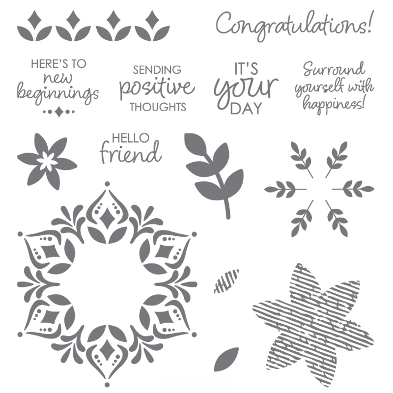 stampin up snowflake showcase