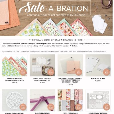 New March Stamping Special! Sale-a-bration Coordination!
