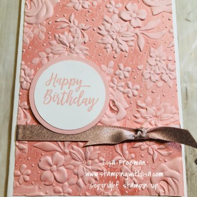 More Country Floral Embossing Techniques