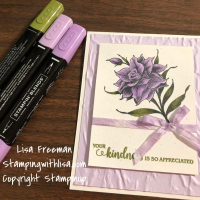 Mystery Card Class….Coloring with the Flowering Blooms Set