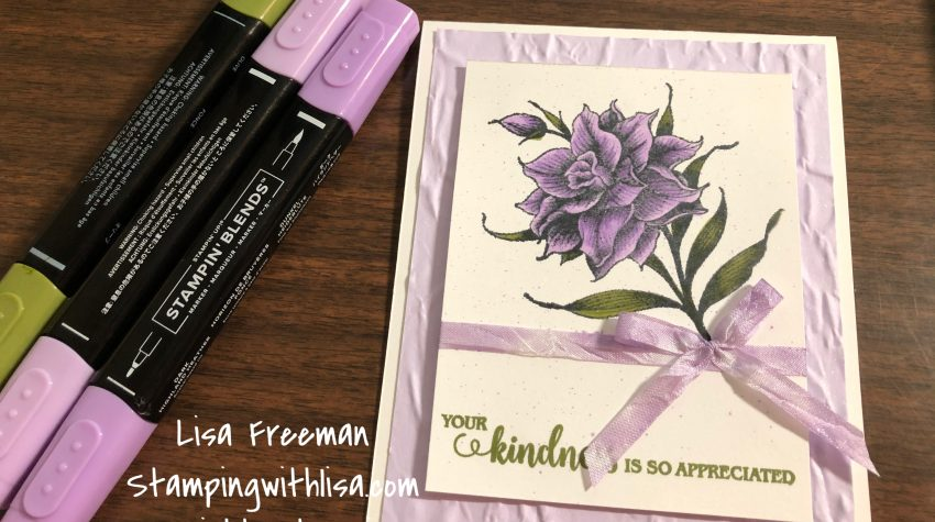 Coloring Flowering Blooms with stampin blends