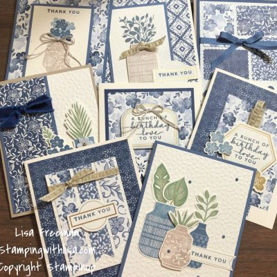 Create 8 Cards with the Boho Indigo Product Medley!