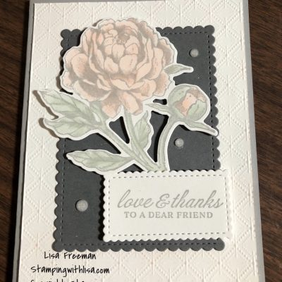 How to Create a Prized Peony Card with Shimmer and Bling