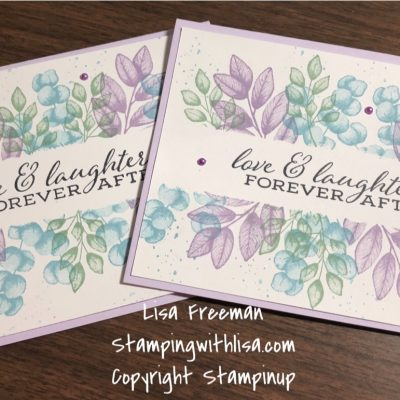 Quick and Easy Forever Fern Card Using the Post It Tape Technique!