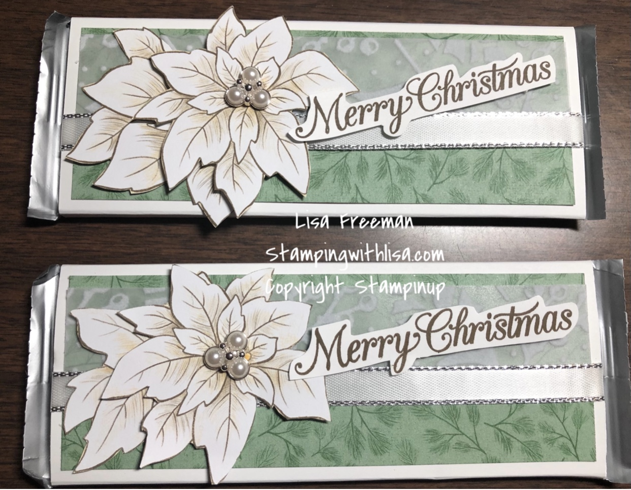 Cute Candy bar gift idea with Poinsettia place dsp