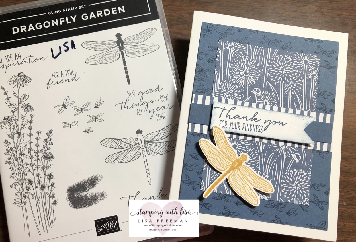 dragonfly garden set from stampin up