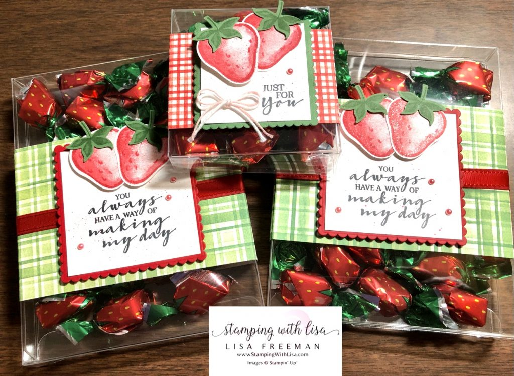 Sweet Strawberry treat boxes