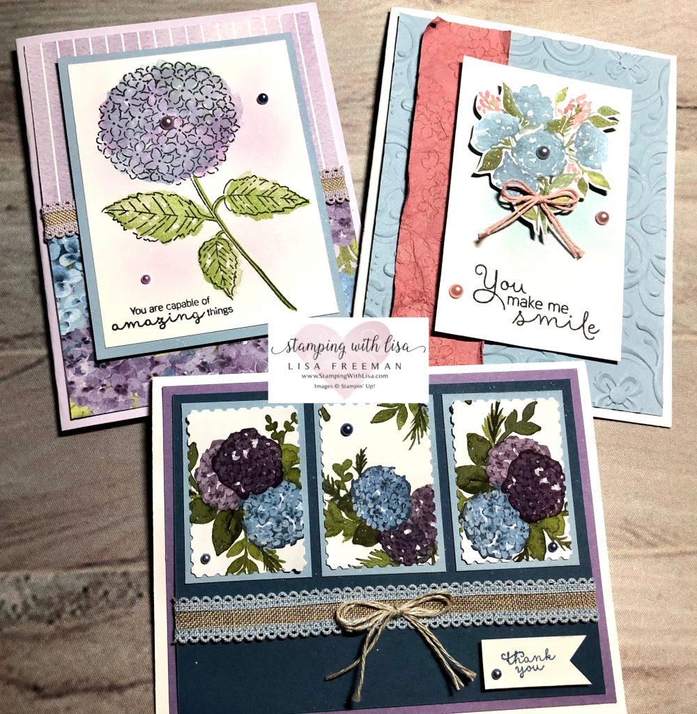 February card kit in the mail hydrangea hill