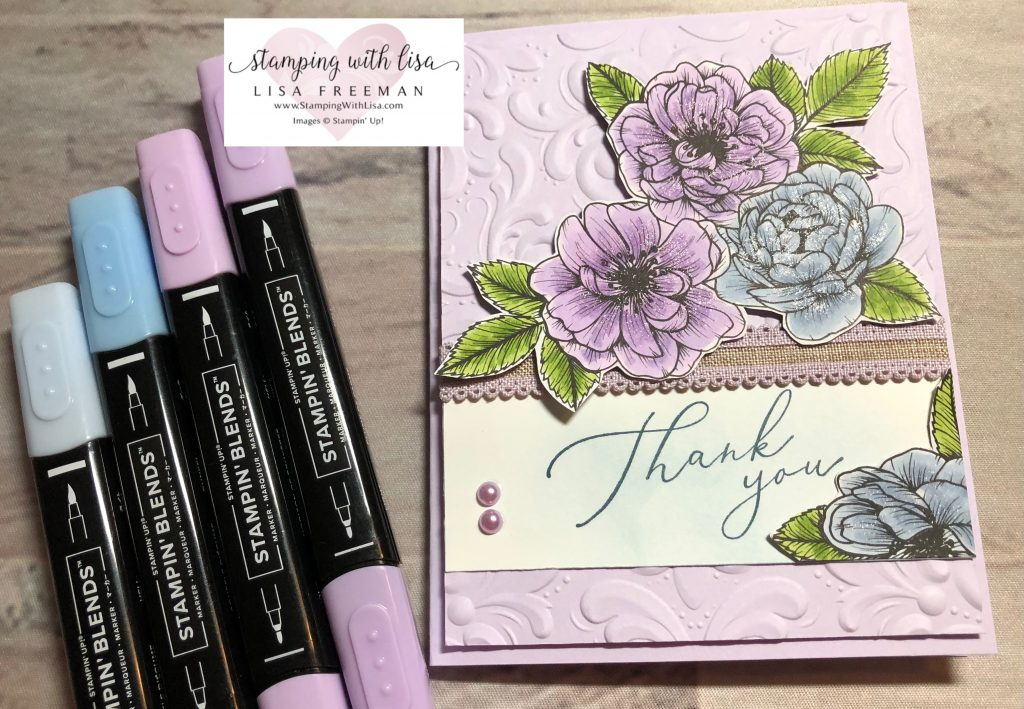 Adorable treat bag and matching card using stampin up true love designer paper
