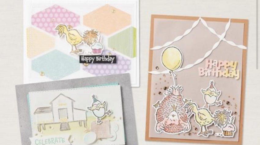 hey birthday chicks stampin up