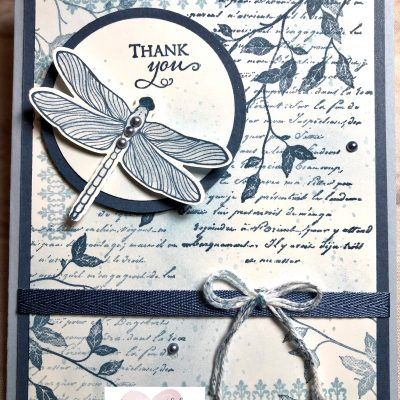 Dragonfly garden meets very versailles stampin up