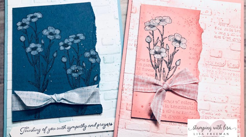whitewash technique with the quiet meadow stamp set