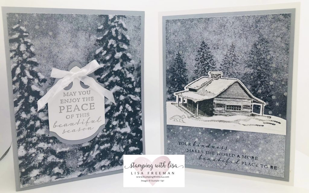 stampin up peaceful cabin!