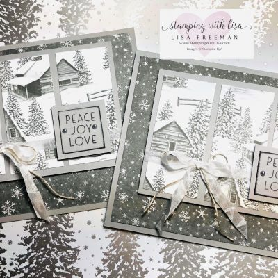 The Peaceful Place DSP and Peaceful Cabin Stamp Set are SO Gorgeous !!