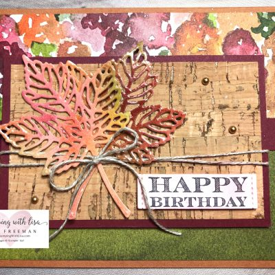 Stampin Up's Gorgeous Leaves Covered in Packing Tape?? Wait! What??