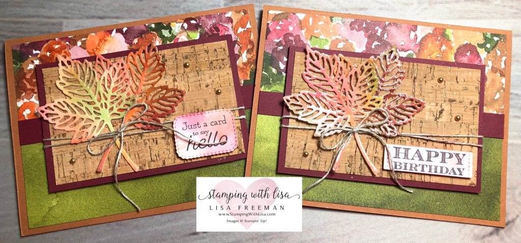 Create a wow look with packing tape on your die cuts!